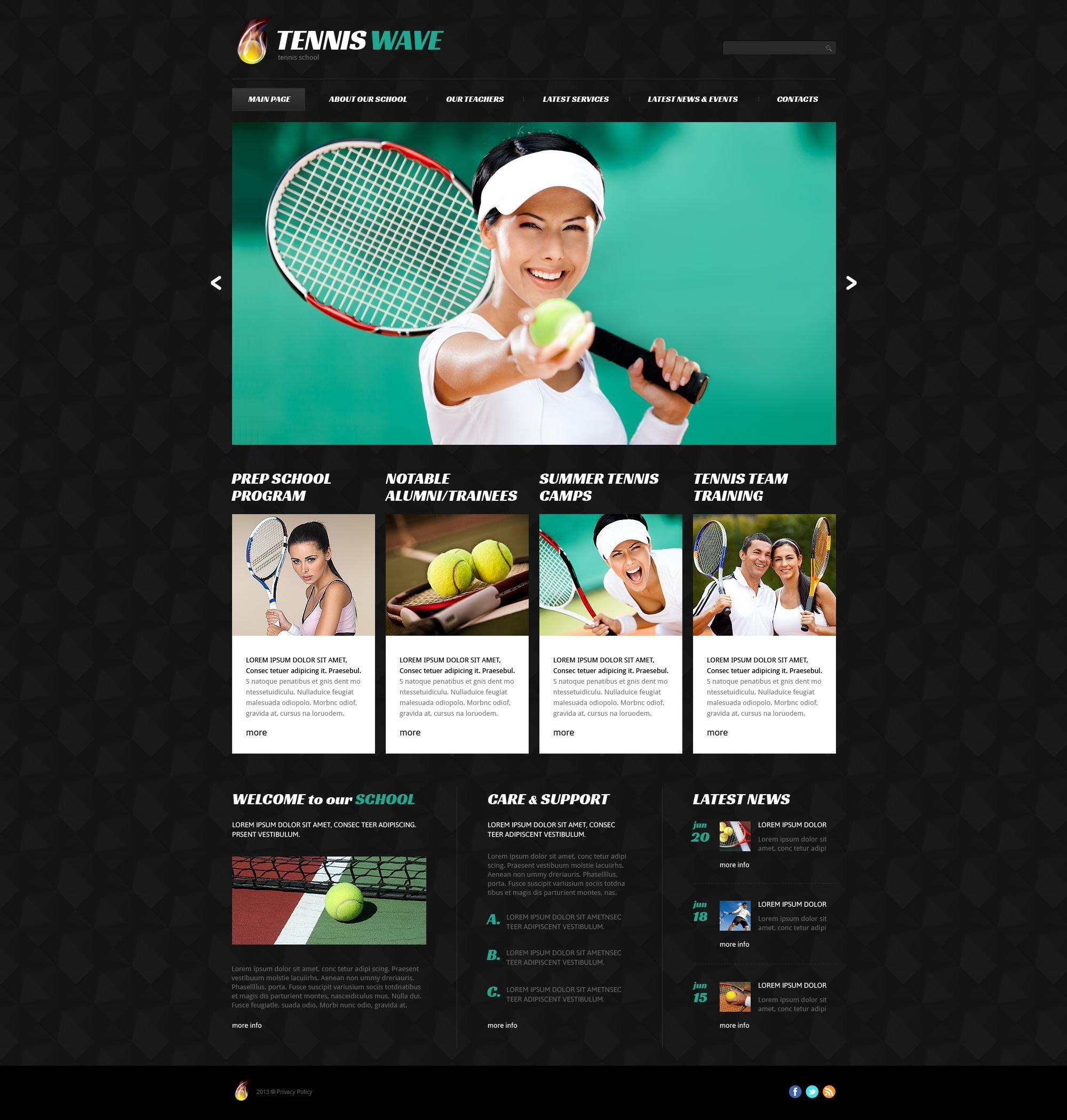 Responsive Tenis Wordpress #52829