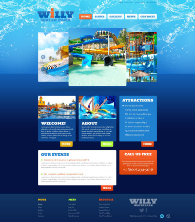 Amusement Park Responsive WordPress Thema
