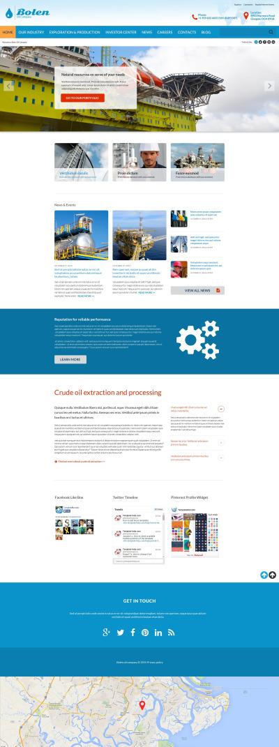 Gas & Oil Responsive Šablona Webových Stránek
