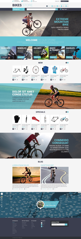 Reszponzív Cycling Store Magento sablon 52865