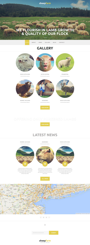 Reszponzív Sheep Farm Joomla sablon 52805 - képernyőkép