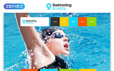Reszponzív Swimming School Clean Responsive HTML5 Weboldal sablon