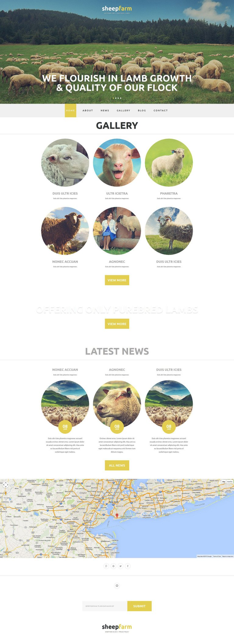 Sheep Farm Joomla Template New Screenshots BIG
