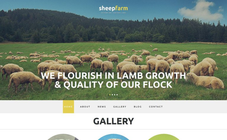 Sheep Farm Joomla Template