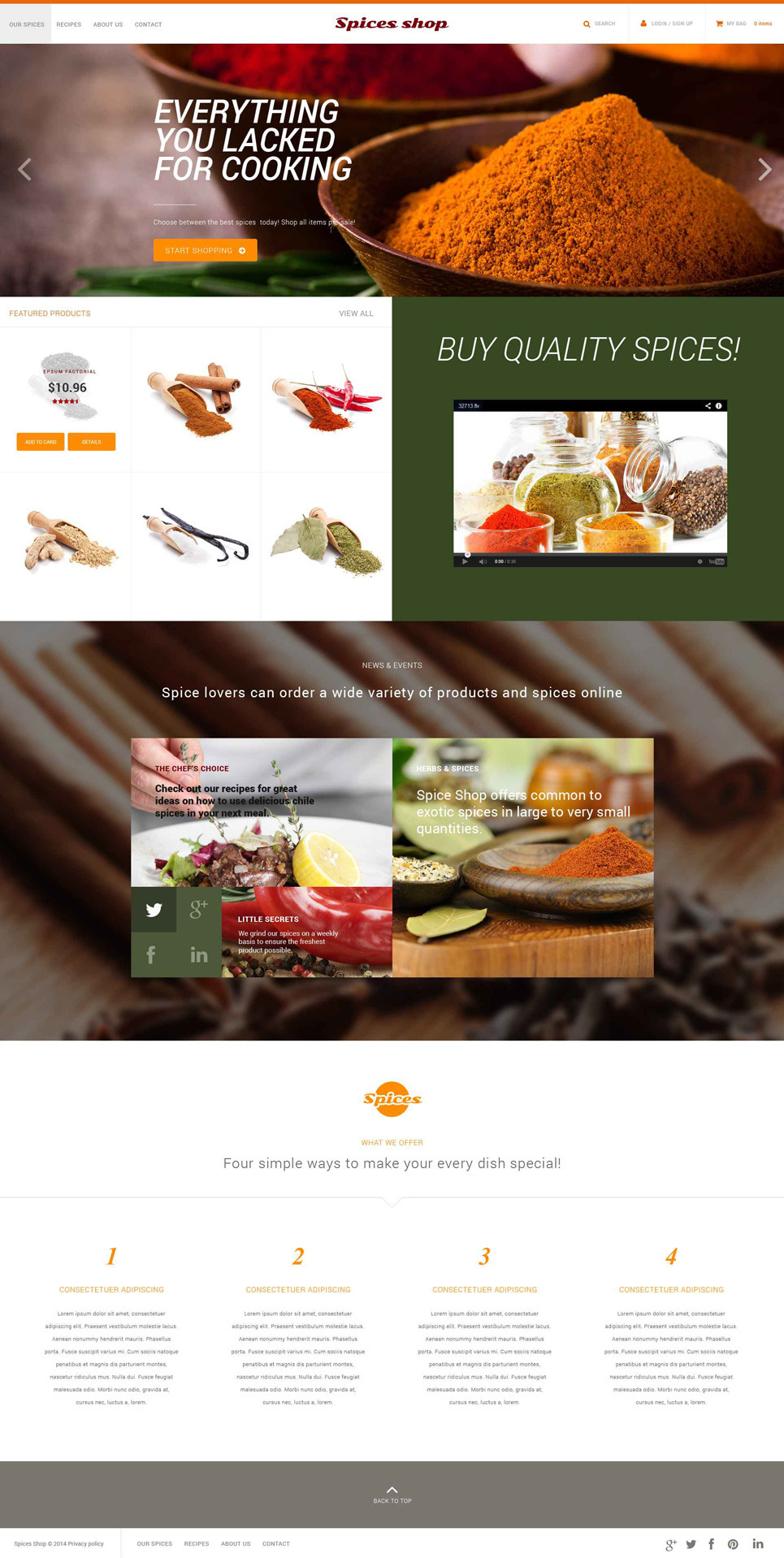 Spice Shop PSD Template New Screenshots BIG