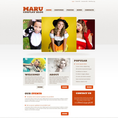 Maru Cosplay Blog - WordPress Template based on Bootstrap