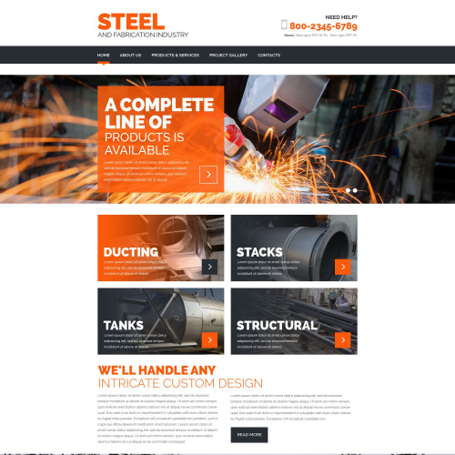 Steel - Website Template based on Bootstrap