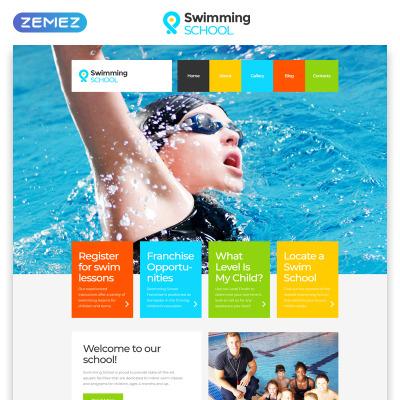 Swimming School Templates | TemplateMonster
