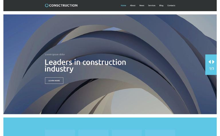 Tema de WordPress #52833 para Sitio de Empresas de construcción