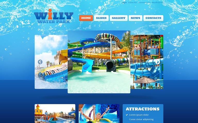 Tema de WordPress #52826 para Sitio de Parques de atracciones
