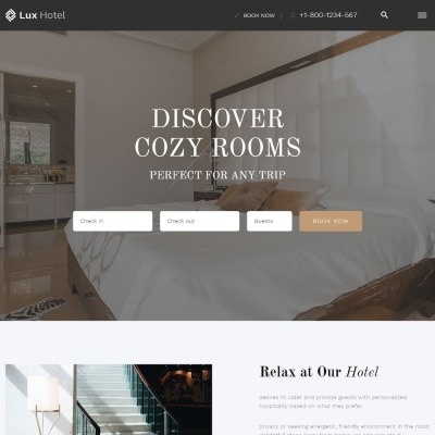 Hotel Reviews Responsive Template Siti Web