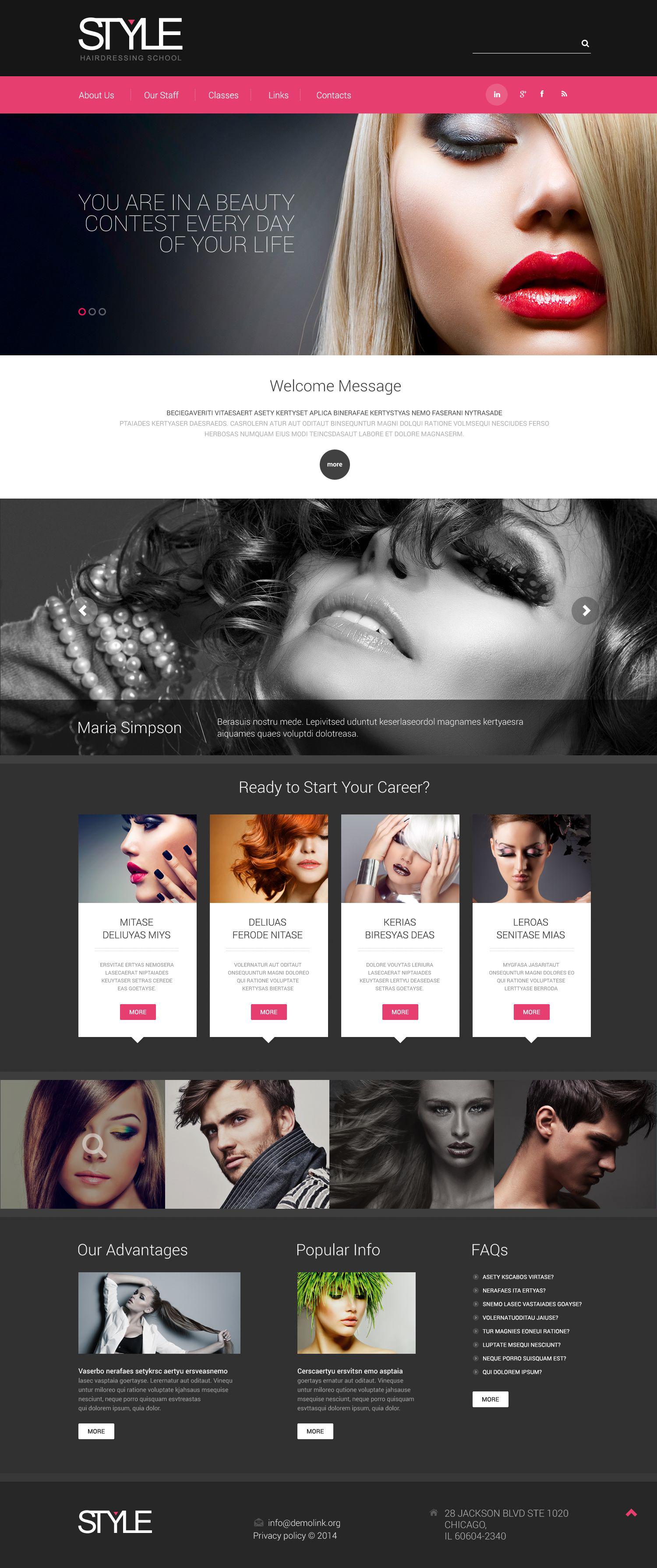 Template Web Flexível para Sites de Salão de Beleza №52875 - screenshot