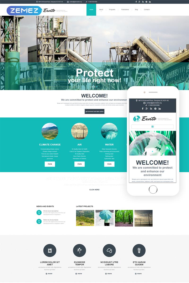Thème Joomla adaptatif pour site écologique #52842