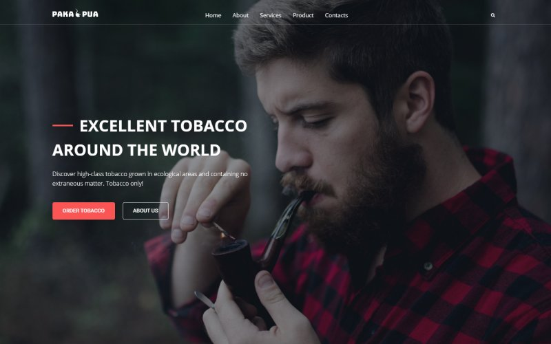 """Tobacco Company"" thème WordPress adaptatif #52834 - screenshot"