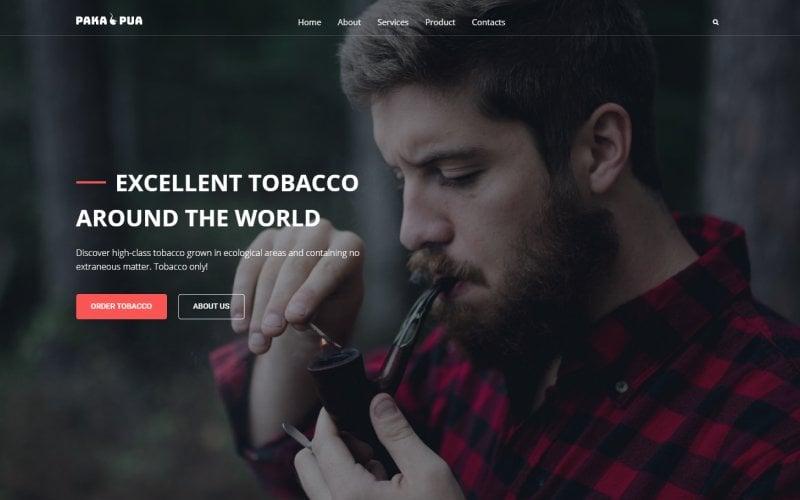 """Tobacco Company"" 响应式WordPress模板 #52834"