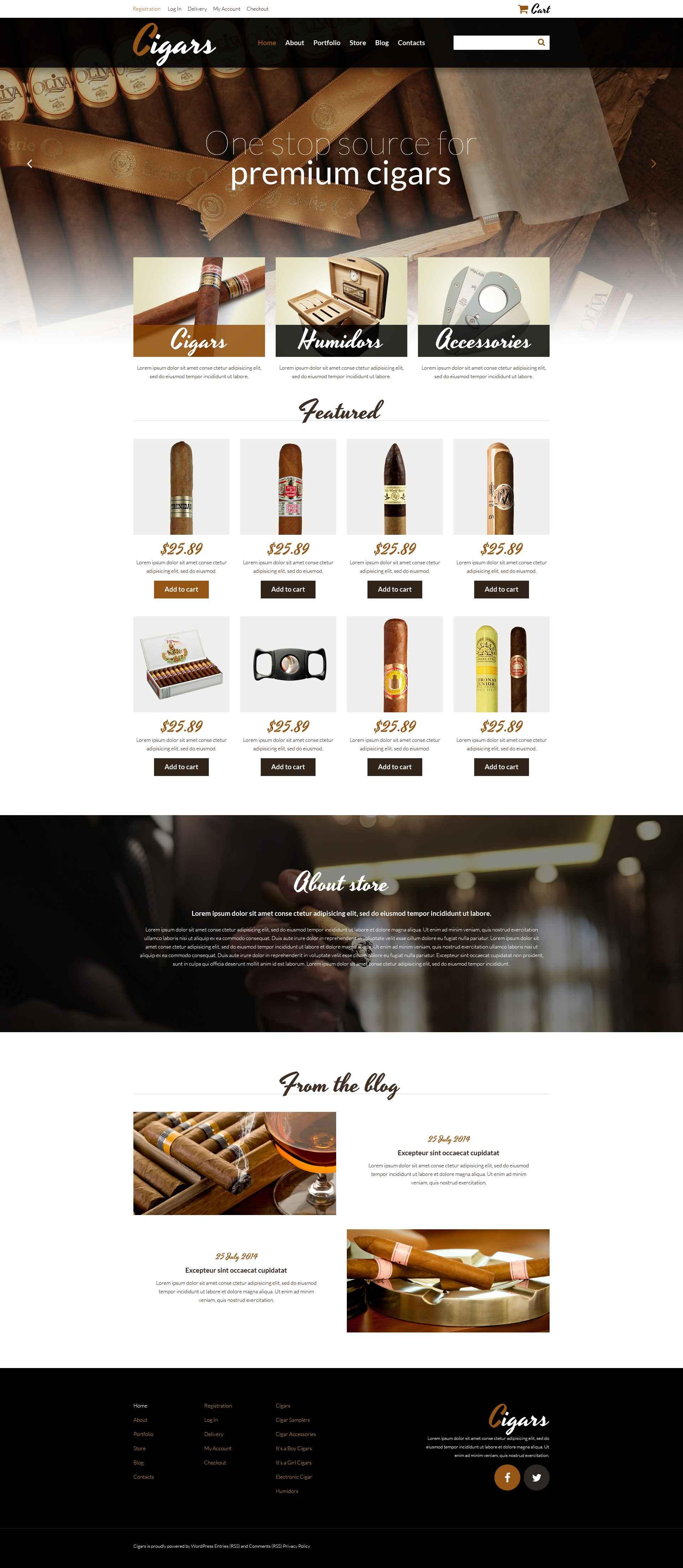 Tobacco Responsive WooCommerce Theme - screenshot