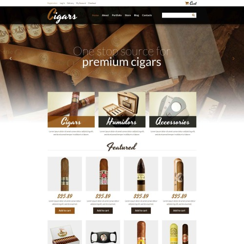 Cigars - WooCommerce Template based on Bootstrap