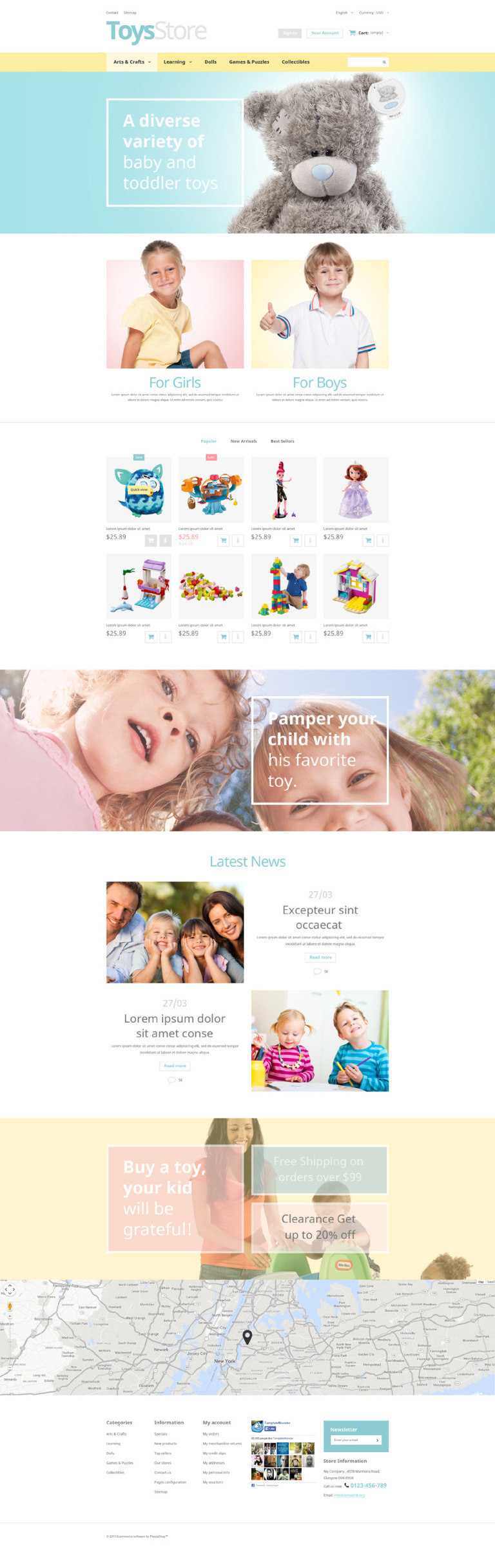 Toys Shop PrestaShop Theme New Screenshots BIG