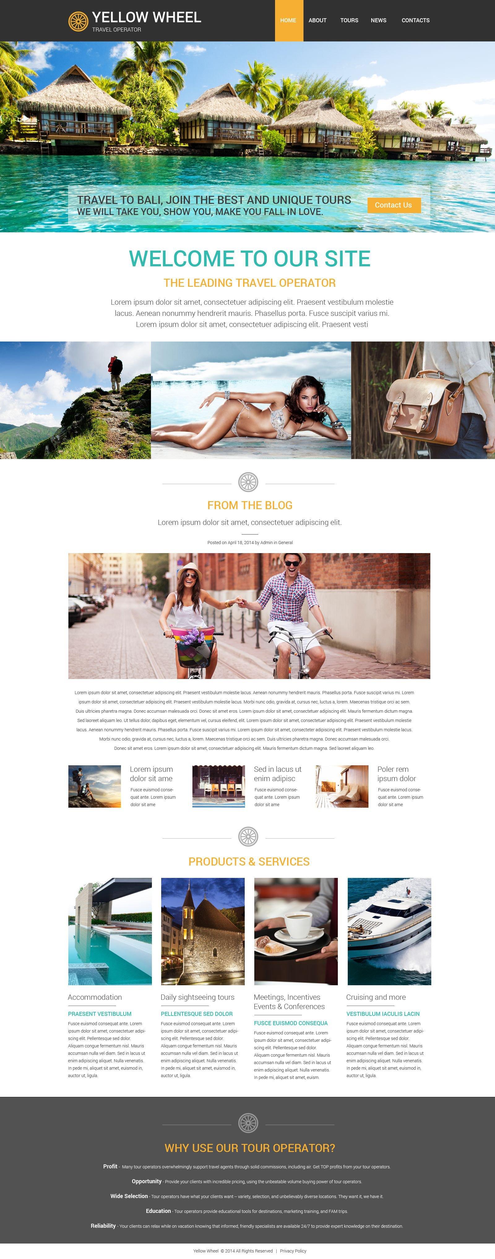 Travel Operator Template Web №52874