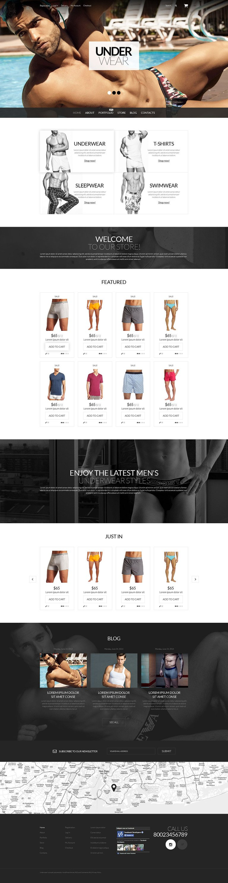 Underwear for Men WooCommerce Theme New Screenshots BIG