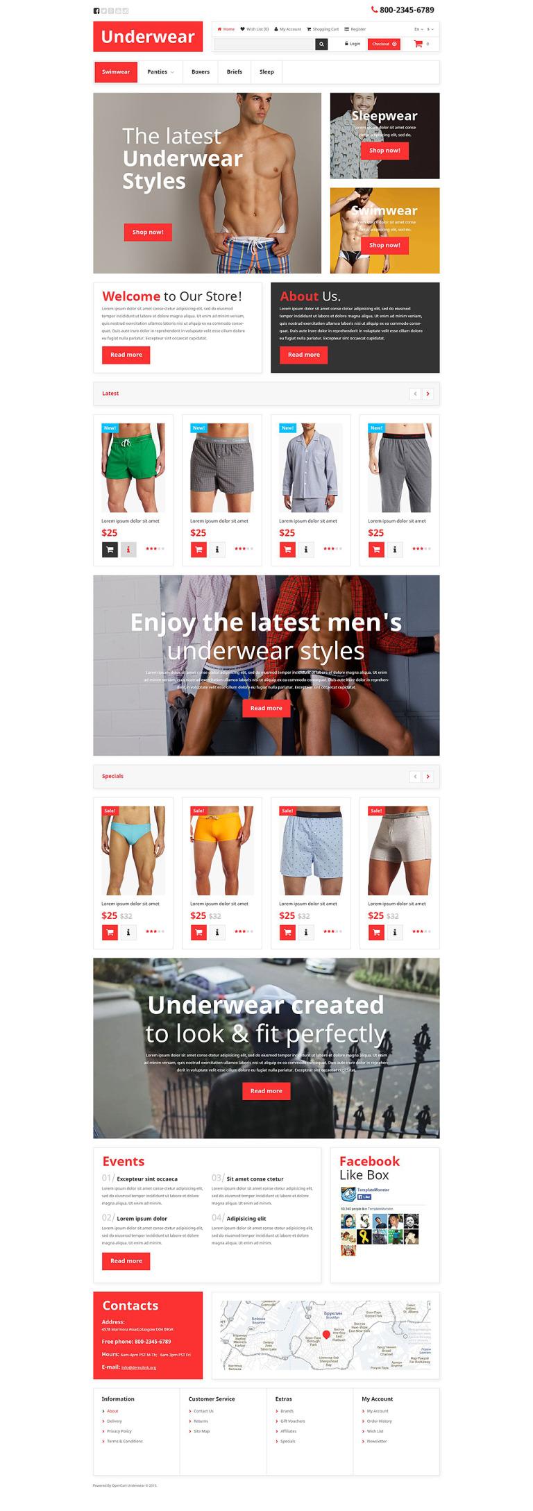 Underwear OpenCart Template New Screenshots BIG