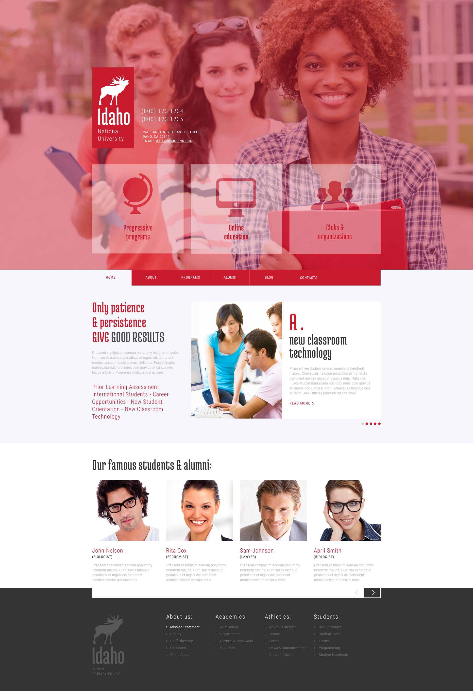 """University Education"" Responsive WordPress thema №52830"