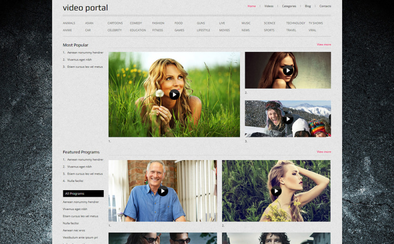 Video Gallery Responsive Joomla Template