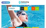 "Website Vorlage namens ""Swimming School Clean Responsive HTML5"""