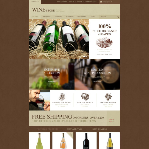 Wine Store - PrestaShop Template based on Bootstrap
