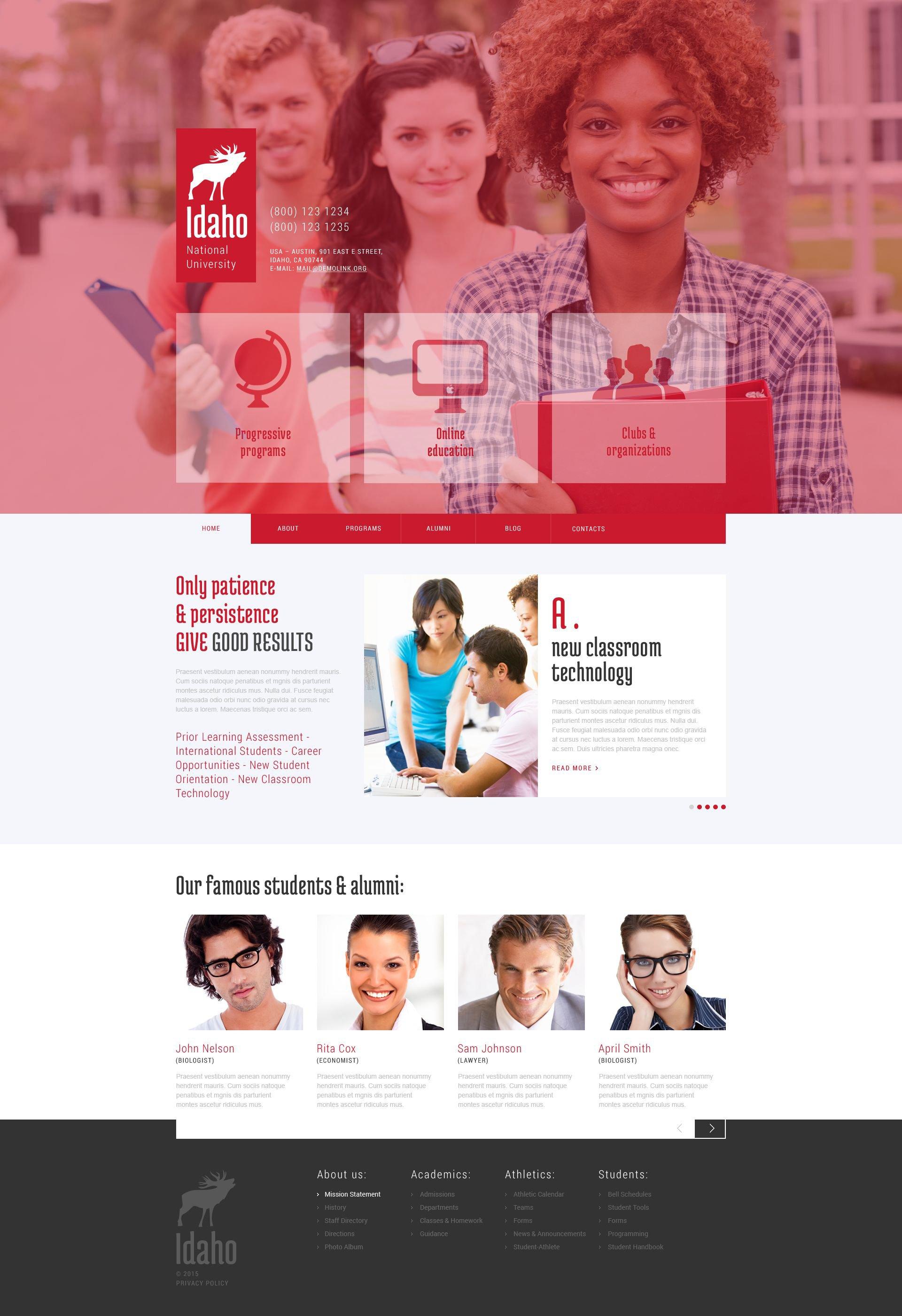 "WordPress Theme namens ""University Education"" #52830"