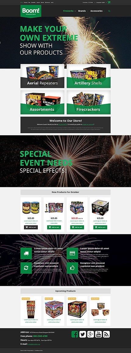 osCommerce Template 52904 Main Page Screenshot