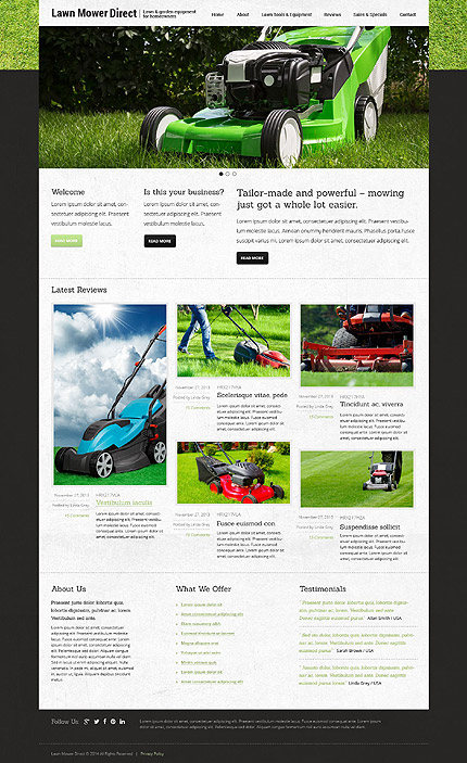 Joomla Theme/Template 52912 Main Page Screenshot