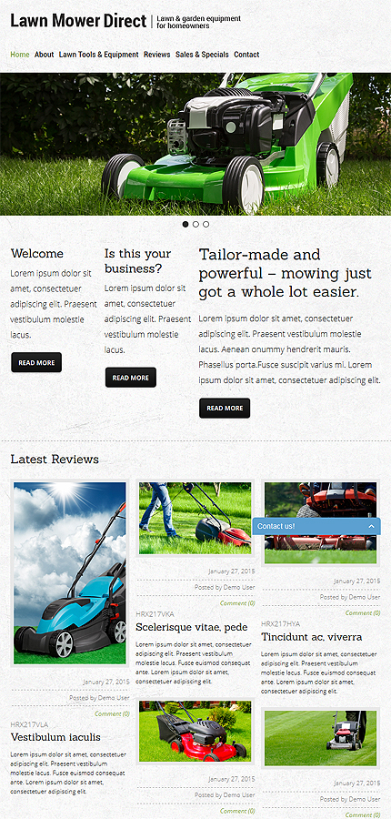 Joomla Theme/Template 52912 Main Page Screenshot