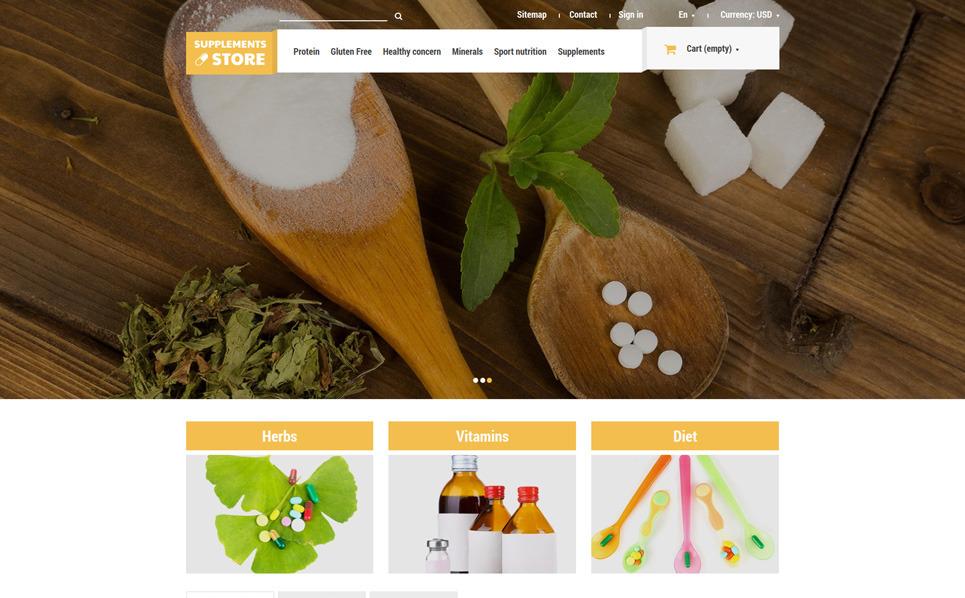 Responzivní PrestaShop motiv na téma Prodejna výživy New Screenshots BIG