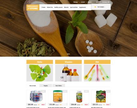 NutritionSupplements PrestaShop Theme