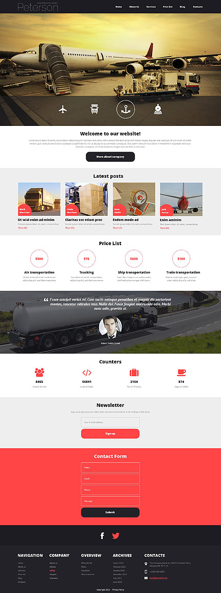 Joomla Theme/Template 52923 Main Page Screenshot