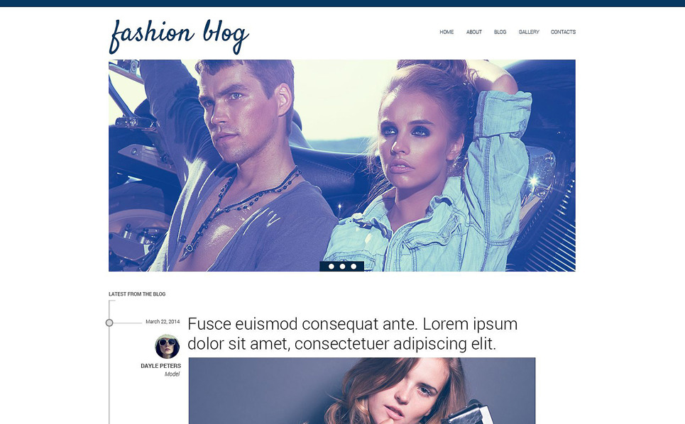 "Drupal Vorlage namens ""Modernes Blog-Design "" New Screenshots BIG"