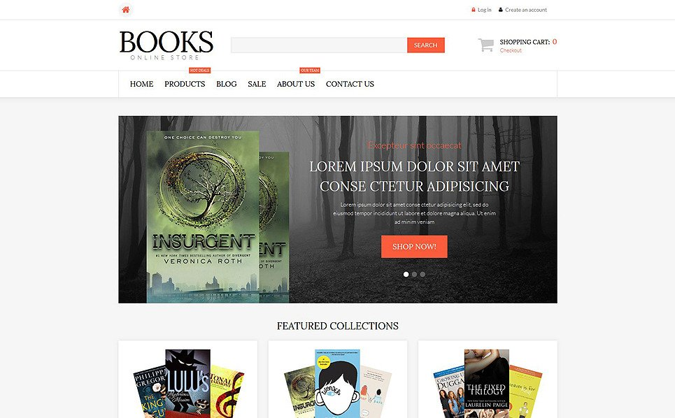 Responsive Shopify Thema over Boeken New Screenshots BIG
