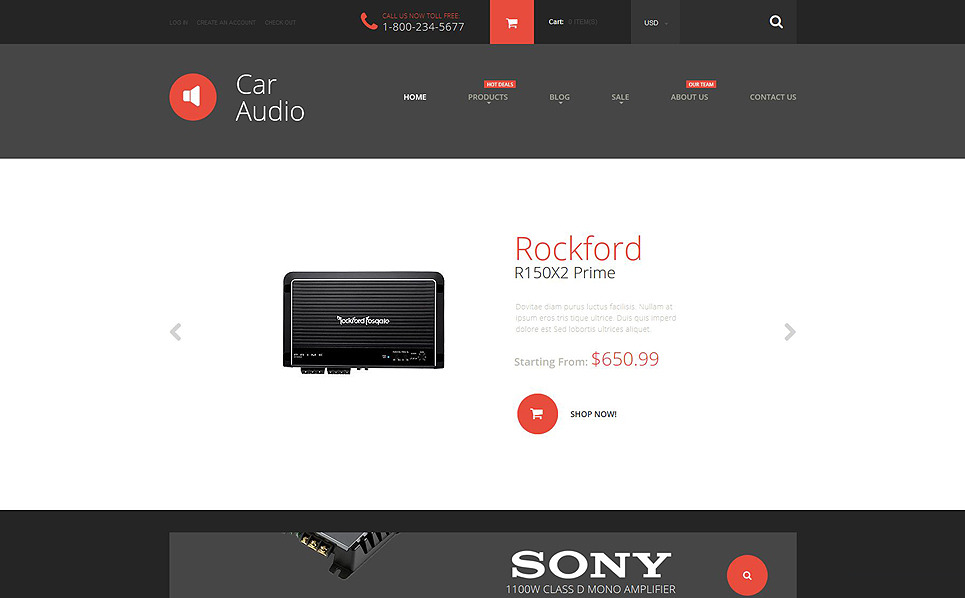Tema Shopify Responsive para Sitio de Audio para coches New Screenshots BIG