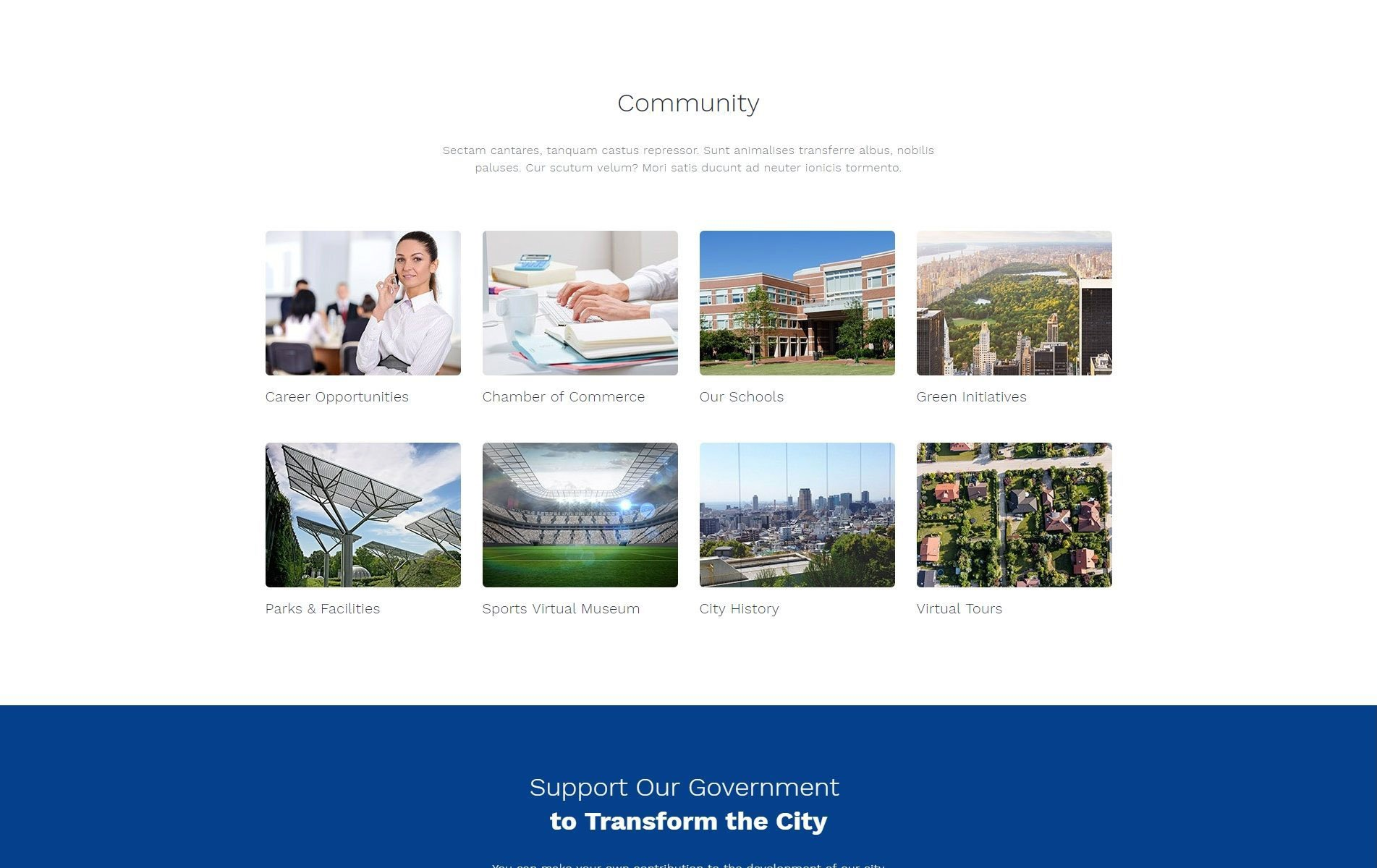 Official city government multipage html template zoom in live demo maxwellsz