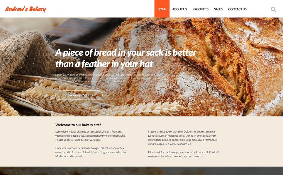 Responsive Website template over Bakkerij  New Screenshots BIG