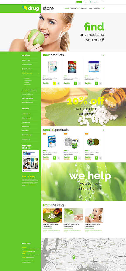 ADOBE Photoshop Template 52955 Home Page Screenshot