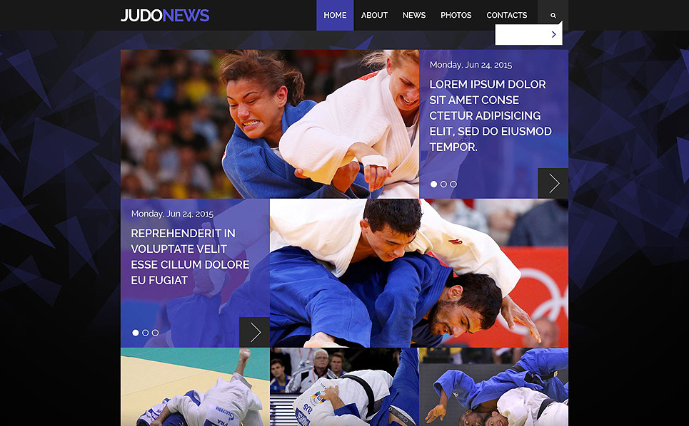 Responsive Website Vorlage für Kampfsport  New Screenshots BIG