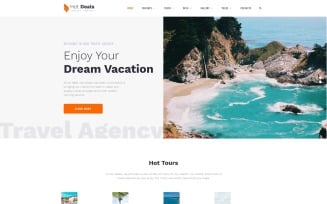 Hot Deals - Travel Agency Clean Multipage HTML Website Template