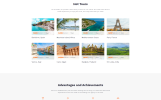 Reszponzív Hot Deals - Travel Agency Clean Multipage HTML Weboldal sablon