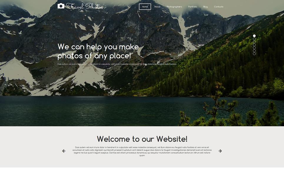 Адаптивний Joomla шаблон на тему портфоліо фотографа  New Screenshots BIG
