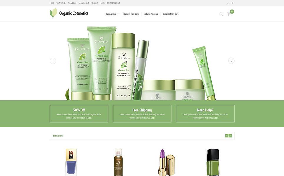 Responzivní OpenCart šablona na téma Kosmetický obchod New Screenshots BIG
