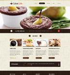 Cafe & Restaurant Website  Template 52977