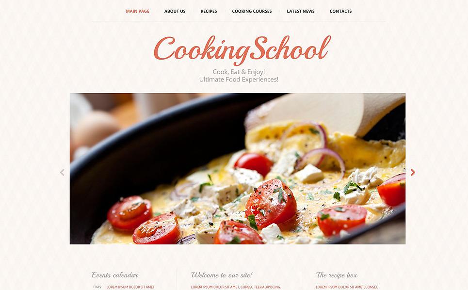 Responzivní Šablona webových stránek na téma Škola vaření, kuchařská škola New Screenshots BIG