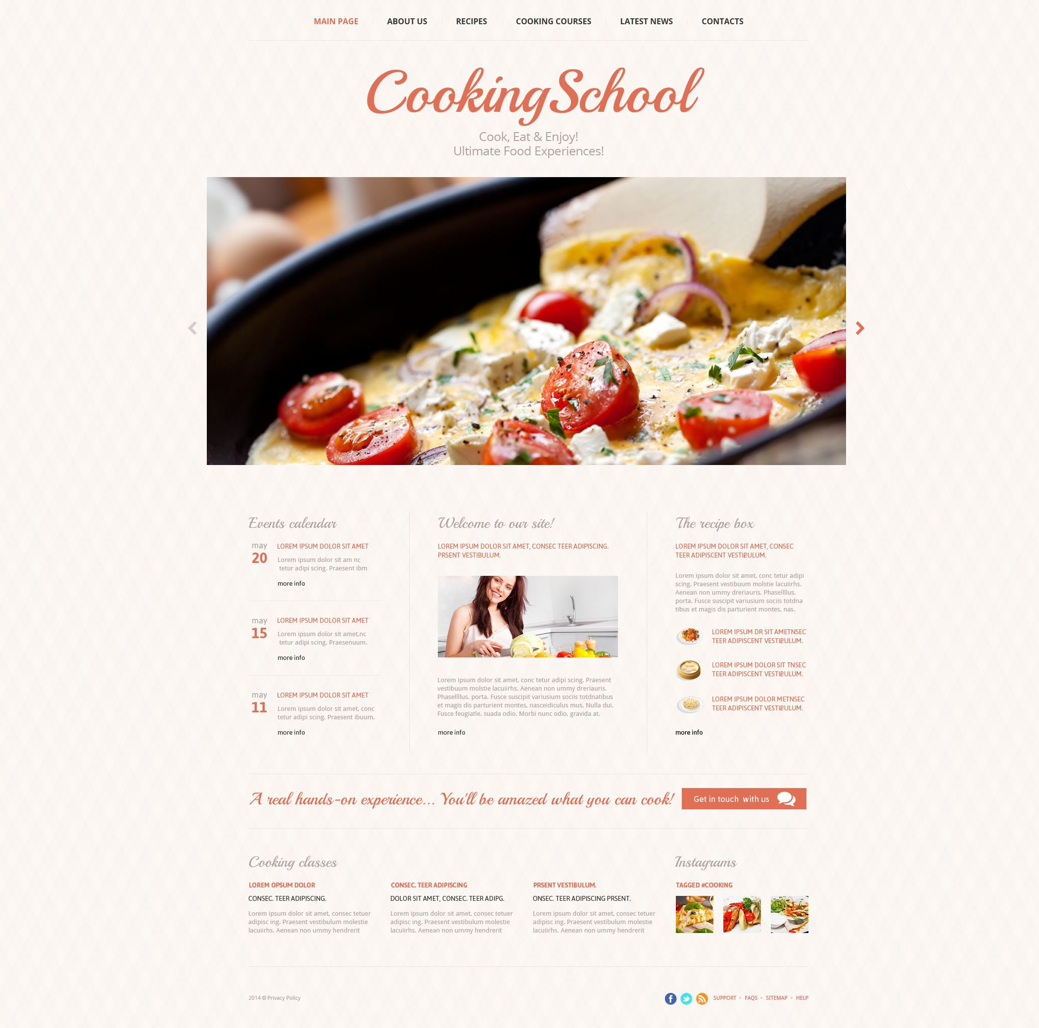 The Cooking School Responsive Javascript Animated Design 52979, one of the best website templates of its kind (education, most popular), also known as cooking school website template, cook website template, culinary website template, academy website template, education website template, prices website template, classes website template, chef website template, instructor website template, instructors website template, calendar website template, courses website template, food website template, dish website template, dishes and related with cooking school, cook, culinary, academy, education, prices, classes, chef, instructor, instructors, calendar, courses, food, dish, dishes, etc.